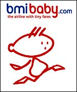 Logo for bmibaby, BMI British Midland's no-frills airline