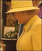 The Queen at a craft fair