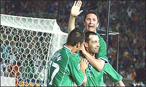 Gary Breen's goal eased Irish nerves