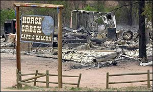 Horse Creek Cafe and Saloon on Highway 67 near Deckers are one of a handful of structures that were destroyed by the Hayman Fire