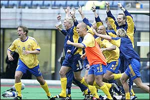 The Swedish bench celebrate