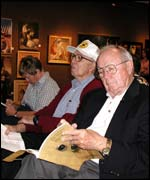 Captain Van Kirk (r) at San Francisco auction