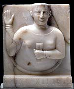 Stela of a woman. 1st century BC (British Museum)