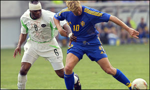 Taribo West against Sweden