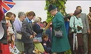 The Queen in Powys