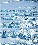 Ice sheet and crevasses   BAS
