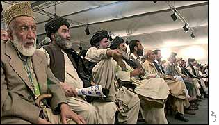 Delegates at loya jirga