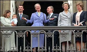 Prince Joachim (second left) and the Danish royal family