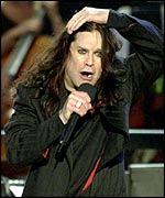 Ozzy Osbourne at the Queen's Jubilee rock concert