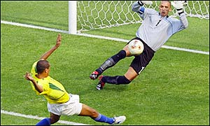 Rivaldo scored Brazil's fourth goal