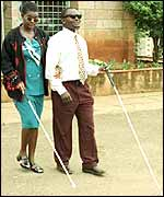 Catherine Bwire and Douglas Sidialo, victims of 1998 attack in Nairobi