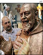 Bronze statue of Padre Pio
