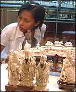 Ivory on sale in Bangkok