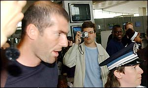 Zidane had to face the fans when he arrived back from the World Cup