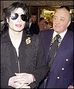 Jackson and Mohammed Al Fayed