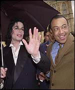 Michael Jackson and Paul Boateng