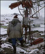 Science station in Antarctica