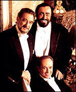 With Jos� Carrera and Luciano Pavarotti as the Three Tenors