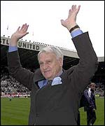 Newcastle manager Bobby Robson