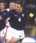 Tom Boyd in action for Scotland