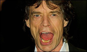 Mick Jagger, frontman for the Rolling Stones