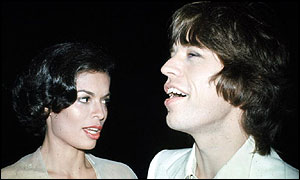 Mick Jagger with his first wife Bianca Jagger