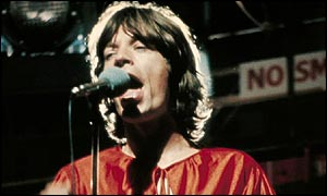 Mick Jagger, singing during the 1960s