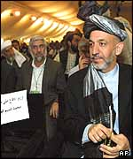 Hamid Karzai at the Loya Jirga