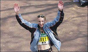 The MBE is awarded to Paula Radcliffe who  recently won the London Marathon