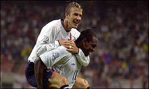 Emile Heskey and David Beckham