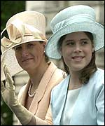 Sophie, Countess of Wessex, and Princess Eugenie