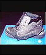 The shoes Richard Reid was wearing on board the flight