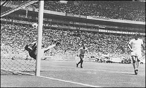 Gordon Banks' wonder save epitomised the last World Cup clash between the two