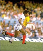 John Barnes is on his way to goal at the Maracana