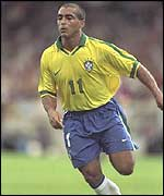 Romario was a thorn in England's side in La Tournoi