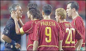 Portugal captain Fernando Couto could also be in trouble for this incident