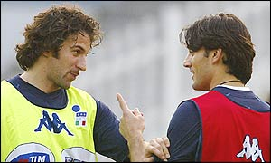 Italian strikers Alessandro del Piero and Vincenzo Montella will have their work cut out against South Korea