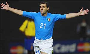 Italian striker Christian Vieri