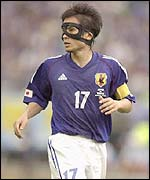 Miyamoto is the iron man in the mask in Japan's defence