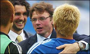Japan's Philippe Troussier is the most-hugged coach of the 2002 World Cup