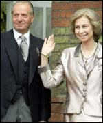 King Juan Carlos and Queen Sofia of Spain