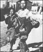 The body of Hector Peterson being carried away during the clashes in Soweto in 1976