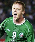 Ireland forward Damien Duff