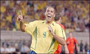 Ronaldo said Brazil and England are evenly matched
