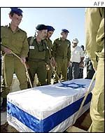 Funeral of Israeli soldier, Hezki Gutman, killed by Mahmoud al-Obeid