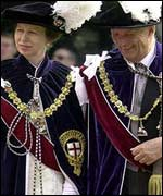 Norway's King Harald and the Princess Royal