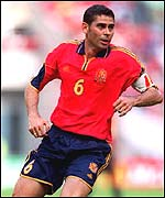 Spain captain Fernando Hierro