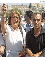 Israelis react after Jerusalem bus bombing, 18 June, 2002