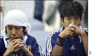 Japan's fans were left distraught by the defeat