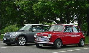 Classic and new Minis